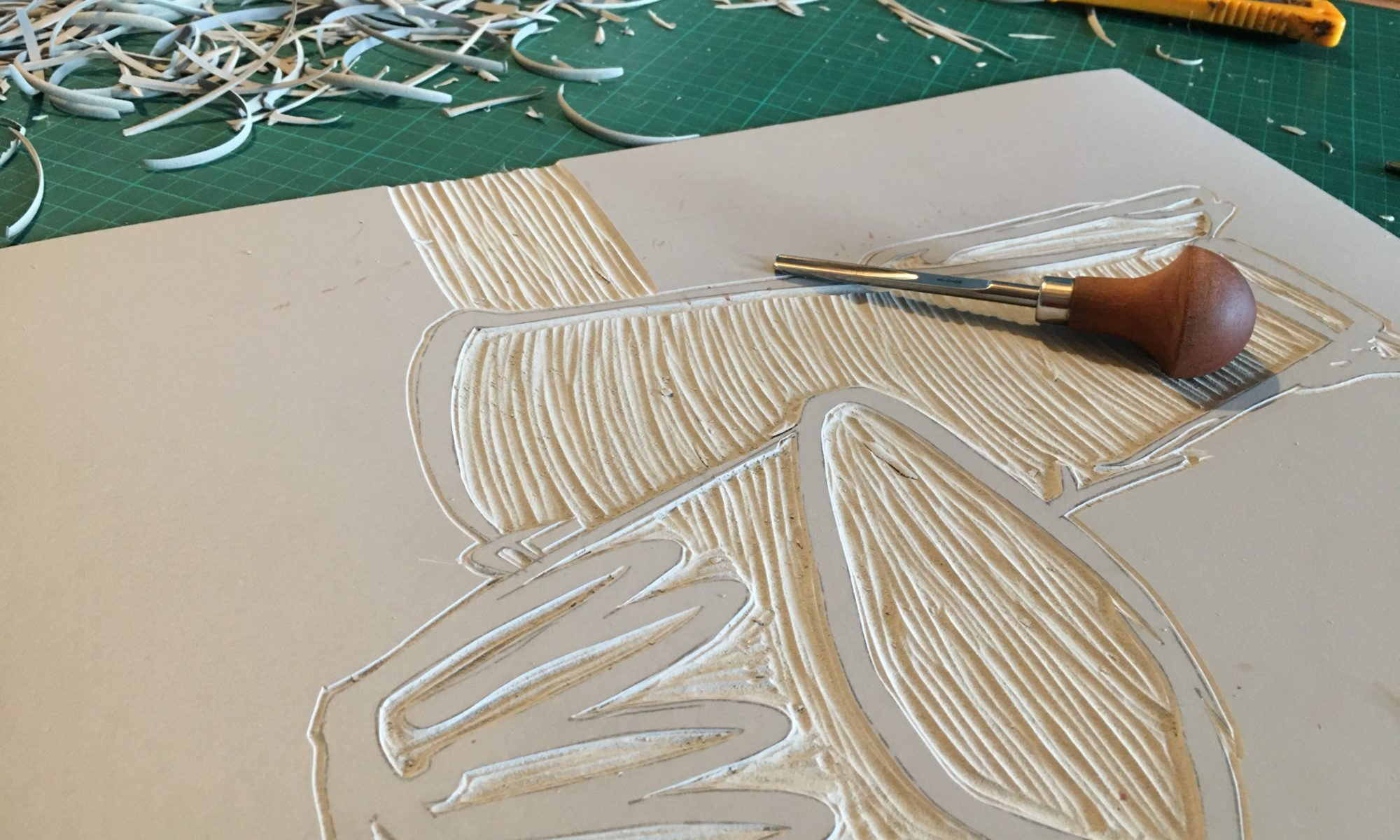 gravure linogravure atelier creation damgan